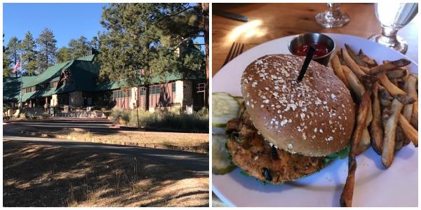 Lodge @ Bryce Canyon & it's lodge-made black bean burger